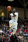 GARLAND, TX - NOVEMBER 11: Ryan Manuel #1 of the SMU Mustangs drives to the basket against the Rhode Island Rams on November 11, 2013 at the Curtis Culwell Center in Garland, Texas.  (Photo by Cooper Neill/Getty Images) *** Local Caption *** Ryan Manuel