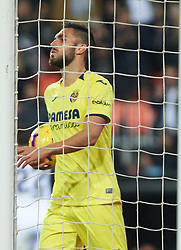 January 26, 2019 - Valencia, Valencia, Spain - Victor Ruiz of Villarreal CF reacts during the La Liga Santander match between Valencia and Villarreal at Mestalla Stadium on Jenuary 26, 2019 in Valencia, Spain. (Credit Image: © Maria Jose Segovia/NurPhoto via ZUMA Press)