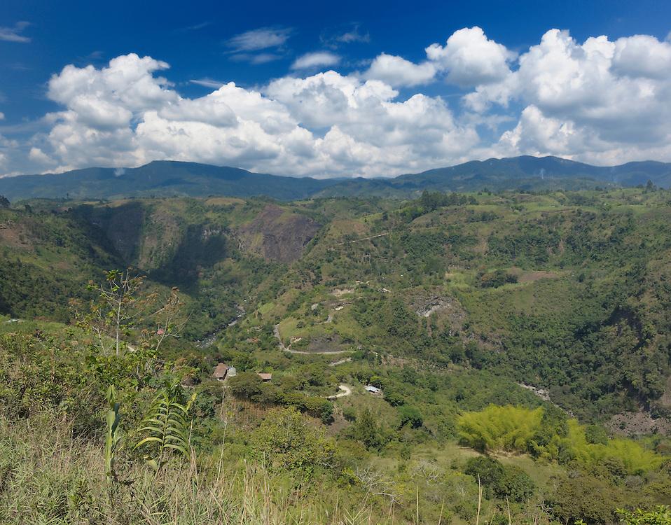 Landscape near El Mirador at Canyon Rio Magdalena, San Agustin, Department Huila, Colombia