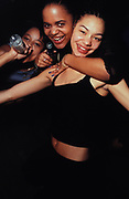 Three under-age female drinkers, Camden, London, U.K, 1998.