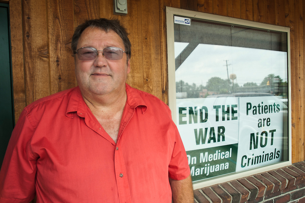 Lathan Goumas | The Bay City Times..Wes Crumby at the Bay Area Herbal Clinic in Pinconning, MI., on Wednesday August 24, 2011. Crumby is the chief operating officer of the facility which closed on Wednesday because of the Michigan State Court of Appeals decision that made the sale of medical marijuana illegal.