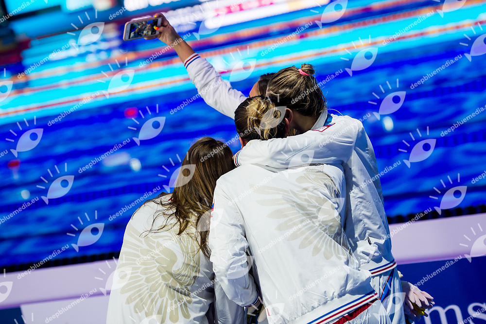 Russian Federation Selfie RUS<br /> Women's Medley 4X100m Final Silver Medal<br /> Day 17 30/07/2017 <br /> XVII FINA World Championships Aquatics<br /> Duna Arena Budapest Hungary  <br /> Photo &copy;A.Masini/Deepbluemedia/Insidefoto