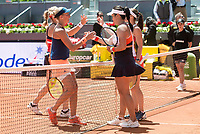 Czech Andrea Hlavackova, hungarian Timea Babos,  swiss Martina Hingis and Taiwanese Chan Yung-jan during Mutua Madrid Open Sub16 Tennis 2017 at Caja Magica in Madrid, May 13, 2017. Spain.<br /> (ALTERPHOTOS/BorjaB.Hojas)
