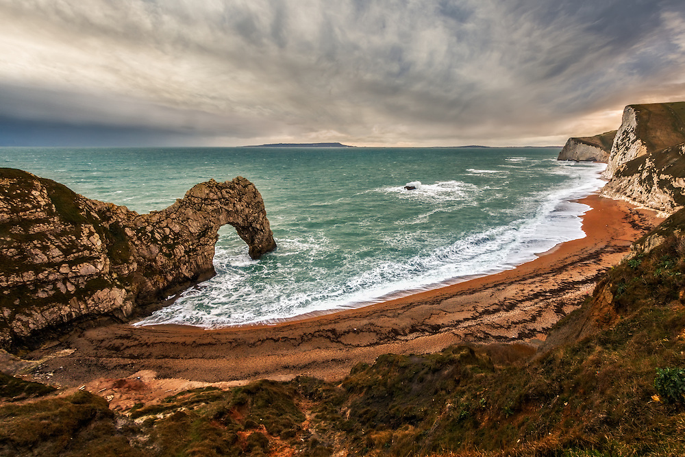 Durdle Door and Chalk Cliffs