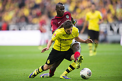 19.10.2013, Signal Iduna Park, Dortmund, GER, 1. FBL, GER, 1. FBL, Borussia Dortmund vs Hannover 96, 9. Runde, im Bild Zweikampf zwischen Jonas Hofmann (#7 Dortmund), Salif Sane (#5 Hannover) // during the German Bundesliga 9th round match between Borussia Dortmund and Hannover 96 Signal Iduna Park in Dortmund, Germany on 2013/10/19. EXPA Pictures &copy; 2013, PhotoCredit: EXPA/ Eibner-Pressefoto/ Kurth<br /> <br /> *****ATTENTION - OUT of GER*****