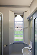 View from washroom to quod with shutters open