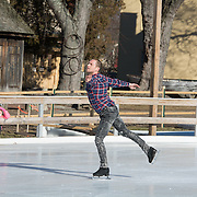 Taken at a rehearsal of Seacoast Winter Party on Ice by members of Ice Dance International, at Strawbery Banke in Portsmouth, NH, Jan 2017