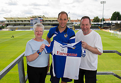 Bristol Rovers' Mark McChrystal has his photo taken with fans - Photo mandatory by-line: Dougie Allward/JMP - Mobile: 07966 386802 27/07/2014 - SPORT - FOOTBALL - Bristol - Bristol Rovers - - Memorial Stadium - Fun Day