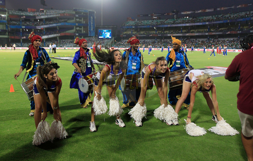 Royal Challengers Banglore cheerleaders during match 30 of the Indian Premier League ( IPL ) Season 4 between the Delhi Daredevils and the Royal Challengers Bangalore held at the Feroz Shah Kotla Stadium in Delhi, India on the 26th April 2011..Photo by Pankaj Nangia/BCCI/SPORTZPICS