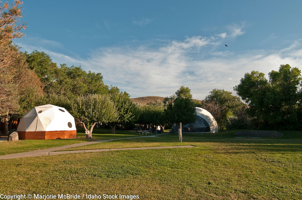 Dome cabins at Miracle Hot Springs in Hagerman, Idaho.