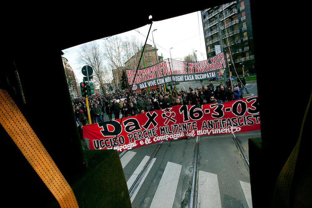 Decimo anniversario dell'uccisione di Davide Cesare detto Dax. Milano, 16 marzo 2013.