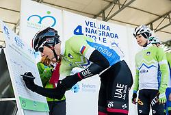 KUMP Marko (SLO) of Slovenian National Team and LAVRIČ Martin (SLO) of Slovenian National Team during the UCI Class 1.2 professional race 4th Grand Prix Izola, on February 26, 2017 in Izola / Isola, Slovenia. Photo by Vid Ponikvar / Sportida
