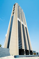 New  mixed use innovative residential and commercial Index Tower designed by Norman Foster in Dubai United Arab Emirates