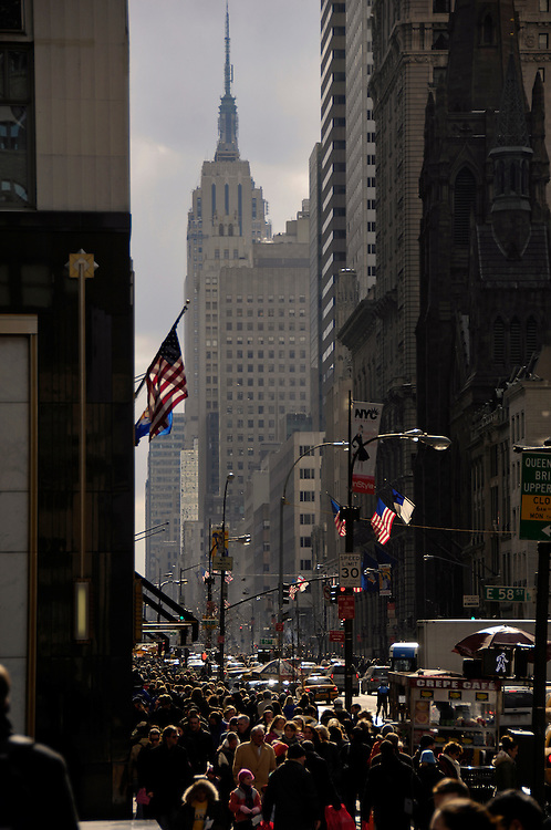 Looking south on Fifth avenue. NYC.