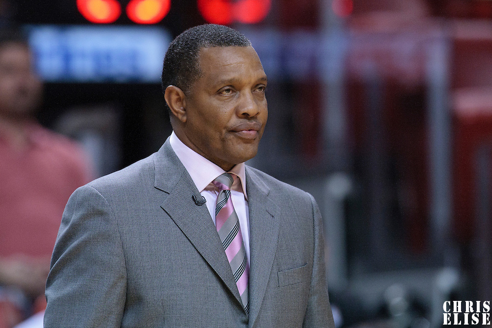 17 November 2010: Phoenix Suns head coach Alvin Gentry is seen during the Miami Heat 123-96 victory over the Phoenix Suns at the AmericanAirlines Arena, Miami, Florida, USA.