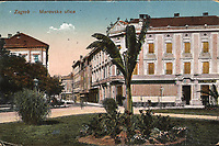 Zagreb : Marovska ulica. <br /> <br /> ImpresumS. l. : S. n., [1918].<br /> Materijalni opis1 razglednica : tisak ; 9 x 13,7 cm.<br /> Vrstavizualna građa • razglednice<br /> ZbirkaGrafička zbirka NSK • Zbirka razglednica<br /> Formatimage/jpeg<br /> PredmetZagreb –– Tomaša Masaryka<br /> SignaturaRZG-MASS-2<br /> Obuhvat(vremenski)20. stoljeće<br /> NapomenaRazglednica je putovala 1918. godine.<br /> PravaJavno dobro<br /> Identifikatori000952474<br /> NBN.HRNBN: urn:nbn:hr:238:690254 <br /> <br /> Izvor: Digitalne zbirke Nacionalne i sveučilišne knjižnice u Zagrebu