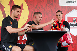 June 3, 2017 - Brussels, BELGIUM - Belgium's goalkeeper Koen Casteels and Belgium's Toby Alderweireld meet fans after the family day of Belgian national soccer team Red Devils, Saturday 03 June 2017, in Brussels. Belgium plays a friendly game against Czech Republic on 05 June and a World Cup 2018 qualifier in Estonia. BELGA PHOTO BRUNO FAHY (Credit Image: © Bruno Fahy/Belga via ZUMA Press)