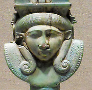 Faience Arc Sistrum. Late Period 664–332 B.C. Egypt