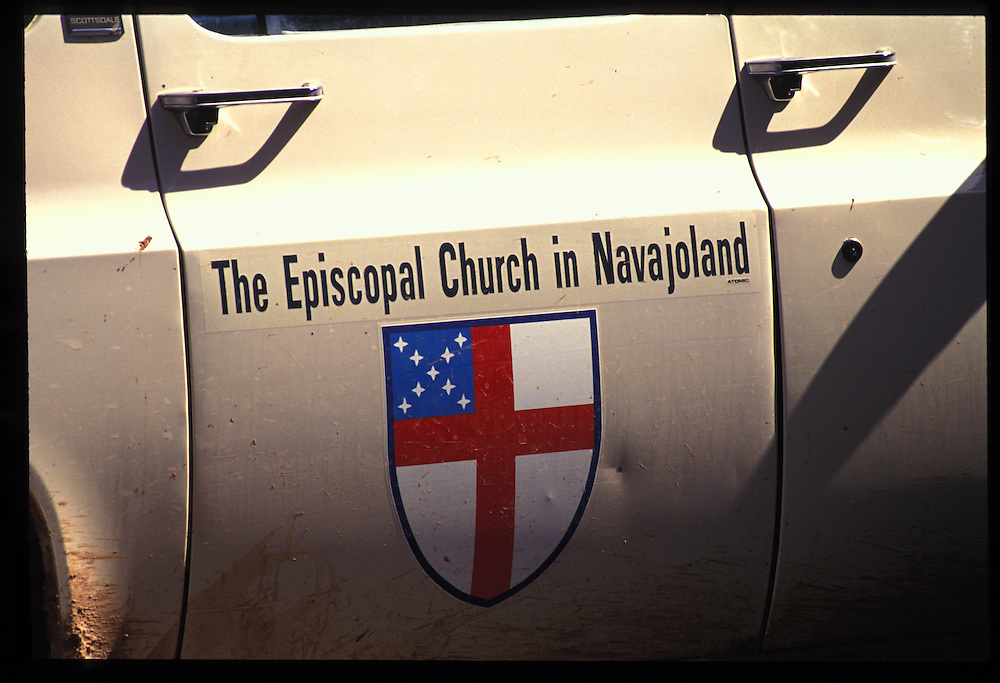 Navajo Reservation Church truck.  Oljeto,  Utaqh.