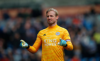 Football - 2019 / 2020 Premier League - Burnley vs. Leicester City<br /> <br /> Kasper Schmeichel of Leicester City celebrates  at Turf Moor.<br /> <br /> COLORSPORT