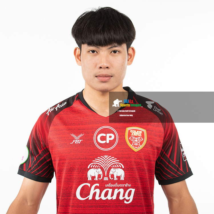 THAILAND - MARCH 05: Nattawut Moonsuwan #17 of Police Tero FC on March 05, 2019.<br /> .<br /> .<br /> .<br /> (Photo by: Naratip Golf Srisupab/SEALs Sports Images/MB Media Solutions)