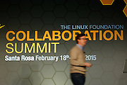 The Linux Foundation hosts their Collaboration Summit at the Hyatt Vineyard Creek Hotel and Spa in Santa Rosa, California, on February 18, 2015. (Stan Olszewski/SOSKIphoto)