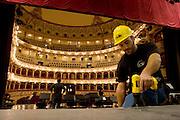 Foto di Donato Fasano Photoagency, nella foto : Bari 30 09 2009. Preparativi per l' inaugurazione del Taeatro Petruzzelli di Bari che si terra il 04 10 2009