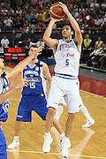 DESCRIZIONE : Roma Amichevole preparazione Eurobasket 2007 Italia Grecia <br /> GIOCATORE : Gianluca Basile <br /> SQUADRA : Nazionale Italia Uomini <br /> EVENTO : Amichevole preparazione Eurobasket 2007 Italia Grecia <br /> GARA : Italia Grecia <br /> DATA : 30/08/2007 <br /> CATEGORIA : Tiro <br /> SPORT : Pallacanestro<br /> AUTORE : Agenzia Ciamillo-Castoria/S.Silvestri Galleria : Fip Nazionali 2007 <br /> Fotonotizia : Roma Amichevole preparazione Eurobasket 2007 Italia Grecia<br /> Predefinita : si