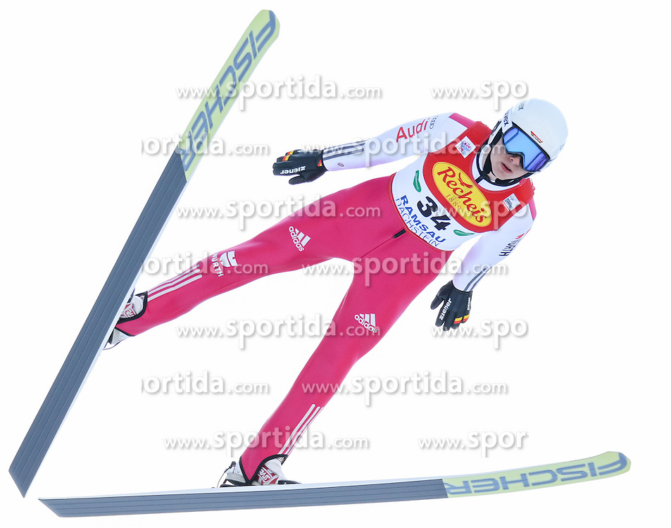 17.12.2016, Nordische Arena, Ramsau, AUT, FIS Weltcup Nordische Kombination, Skisprung, im Bild Terence Weber (GER) // Terence Weber of Germany during Skijumping Competition of FIS Nordic Combined World Cup, at the Nordic Arena in Ramsau, Austria on 2016/12/17. EXPA Pictures © 2016, PhotoCredit: EXPA/ Martin Huber