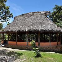 Churuata del campamento posada Karaurimba en Kamarata. Edo. Bolivar. Venezuela. Indian house of base camp Karaurimba in Kamarata. Edo. Bolivar. Febrero 23, 2013. Jimmy Villalta.