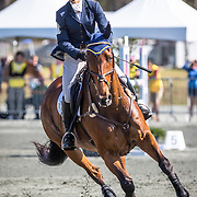 Whitney Mahloch and Military Mind at the Red Hills International Horse Trials in Tallahassee, Florida.