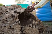 Learning about the benefits of rich organic soil at Vasudha Organic Solution Centre in Jamniya, Madhya Pradesh, India.