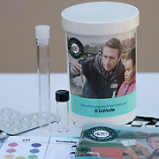 KEY BISCAYNE, FLORIDA, MARCH 22, 2017<br /> EarthEcho International's handout water testing kit to be used by children testing water samples.<br /> (Photo by Angel Valentin/Freelance)
