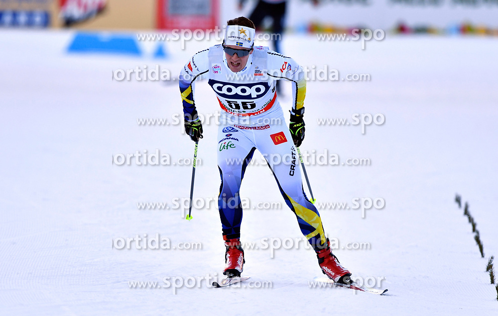 16.12.2017, Nordic Arena, Toblach, ITA, FIS Weltcup Langlauf, Toblach, Herren, 15 km, im Bild Anton Lindblad (SWE) // Anton Lindblad of Sweden during men's 15 km of the FIS Cross Country World Cup at the Nordic Arena in Toblach, Italy on 2017/12/16. EXPA Pictures &copy; 2017, PhotoCredit: EXPA/ Nisse Schmidt<br /> <br /> *****ATTENTION - OUT of SWE*****