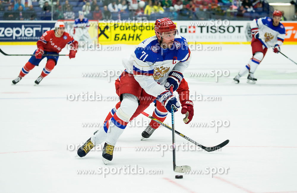 Ilya Kovalchuk of Russia during Ice Hockey match between Russia and Norway at Day 1 in Group B of 2015 IIHF World Championship, on May 1, 2015 in CEZ Arena, Ostrava, Czech Republic. Photo by Vid Ponikvar / Sportida