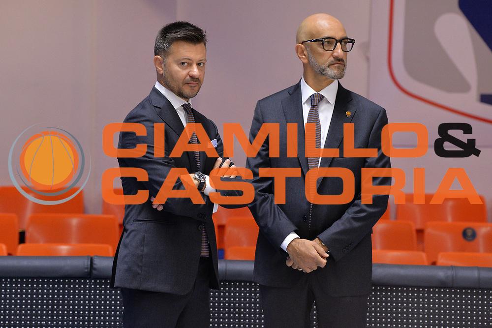 Simone Gioffre, Vitucci Francesco<br /> Happy Casa Brindisi - Umana Reyer Venezia<br /> Legabasket SerieA  2019 - 2020<br /> Brindisi 03/11/2019<br /> Foto GiulioCiamillo/ Michele Longo