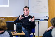 Music industry training day, 'How Music Works' run by the Creative Borders Arts Network, CABN. The training took place at the Tower Mill, Hawick and included sessions delivered by a number of local and national music industry experts. Some musicians delievered open mike sessions in the Film House cafe.