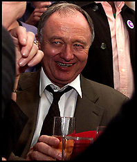 Ken Livingstone drinks Champagne on Election Night