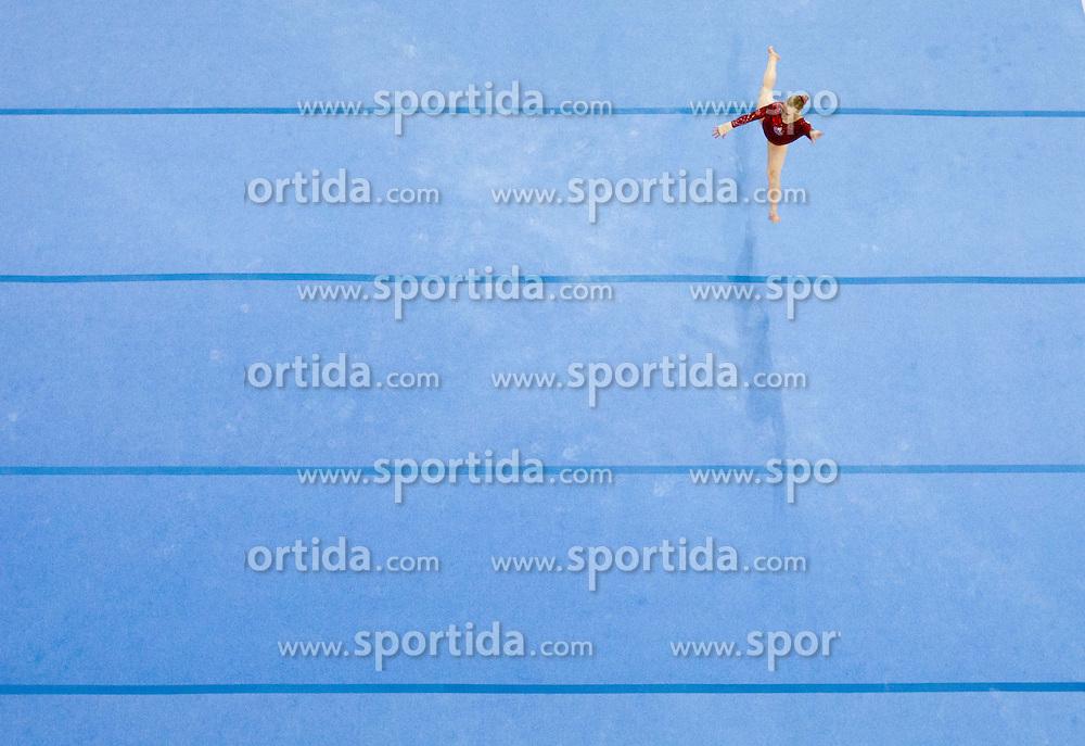 Elsabeth Black of Canada competes in the Floor Exercise during Final day 2 of Artistic Gymnastics World Cup Ljubljana, on April 27, 2013, in Hala Tivoli, Ljubljana, Slovenia. (Photo By Vid Ponikvar / Sportida.com)