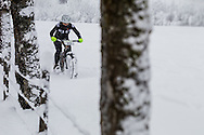 Giulana Massarotto from Italy during stage 5 of the first Snow Epic, the Trübsee climb near Engelberg, in the heart of the Swiss Alps, Switzerland on the 17th January 2015<br /> <br /> <br /> Photo by:  Marc Gasch / Snow Epic / SPORTZPICS