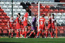Bristol Academy's Mary Earps reacts after saving a penalty from FFC Frankfurt's Celia Sasic - Photo mandatory by-line: Dougie Allward/JMP - Mobile: 07966 386802 - 21/03/2015 - SPORT - Football - Bristol - Ashton Gate Stadium - Bristol Academy v FFC Frankfurt - UEFA Women's Champions League - Quarter Final - First Leg