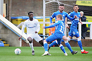 Coventry City forward Jordy Hiwula (11) and Peterborough Utd midfielder Louis Reed (11) during the EFL Sky Bet League 1 match between Peterborough United and Coventry City at London Road, Peterborough, England on 16 March 2019.