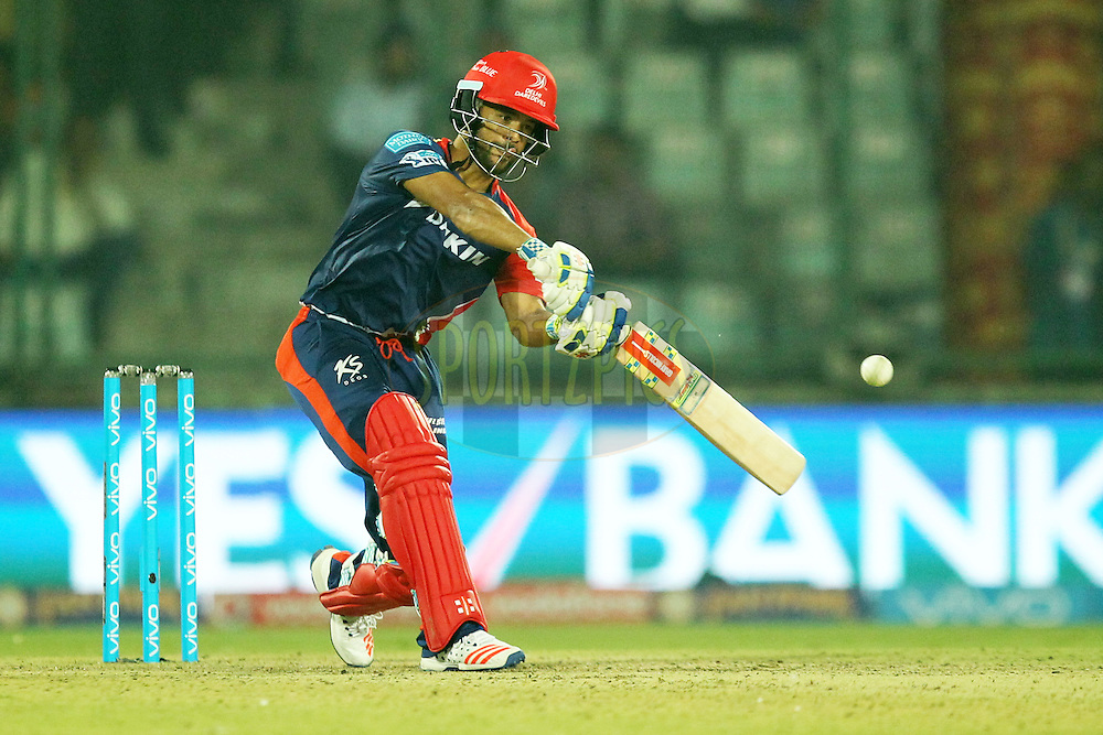 JP Duminy of  Delhi Daredevils in action during match 23 of the Vivo IPL ( Indian Premier League ) 2016 between the Delhi Daredevils and the Gujarat Lions held at The Feroz Shah Kotla Ground in Delhi, India,  on the 27th April 2016Photo by Prashant Bhoot / IPL/ SPORTZPICS
