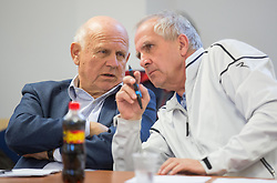 Janez Kocijancic and Srecko Medven during meeting of Executive Committee of Ski Association of Slovenia (SZS) on March 10, 2014 in SZS, Ljubljana, Slovenia. Photo by Vid Ponikvar / Sportida