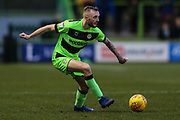 Forest Green Rovers Carl Winchester(7) on the ball during the EFL Sky Bet League 2 match between Forest Green Rovers and Yeovil Town at the New Lawn, Forest Green, United Kingdom on 16 February 2019.