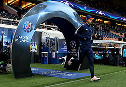 Zlatan Ibrahimovic of Paris Saint-Germain runs out to warm up at Parc des Princes - Mandatory by-line: Robbie Stephenson/JMP - 06/04/2016 - FOOTBALL - Parc des Princes - Paris,  - Paris Saint-Germain v Manchester City - UEFA Champions League Quarter Finals First Leg