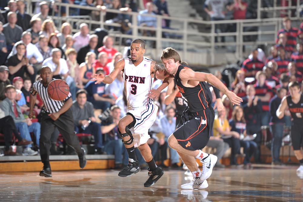 Penn Beat Princeton at the Pa;estra on JAn  30, 2012.