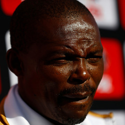 Sazi Ngubane (Head Coach) of Royal Eagles FC during the Premier Soccer League (PSL) promotion play-off  match between  Royal Eagles and Maritzburg United F.C. at the Chatsworth Stadium Durban.South Africa,29,05,2019