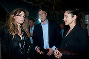 JEMIMA KHAN; ZAC GOLDSMITH, Early launch of Rupert's. Robin Birley  new premises in Shepherd Market. 6 Hertford St. London. 10 June 2010. .-DO NOT ARCHIVE-© Copyright Photograph by Dafydd Jones. 248 Clapham Rd. London SW9 0PZ. Tel 0207 820 0771. www.dafjones.com.