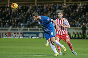Matthew Bates (Hartlepool United) clears the ball during the Sky Bet League 2 match between Hartlepool United and Stevenage at Victoria Park, Hartlepool, England on 9 February 2016. Photo by Mark P Doherty.